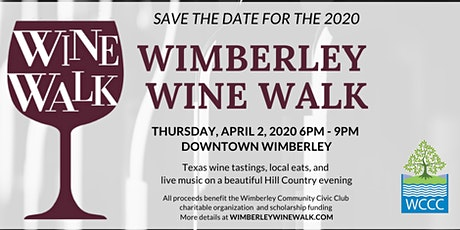 Wimberley Wine Walk 2020 tickets