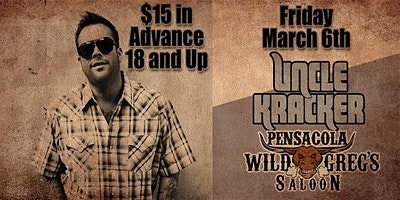 Uncle Kracker Live at Wild Greg's Saloon Pensacola