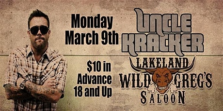 Uncle Kracker Live at Wild Greg's Saloon Lakeland tickets