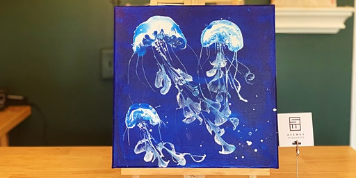 THINGS TO DO -PAINT & SIP: ACRYLIC POURING-JELLYFISH