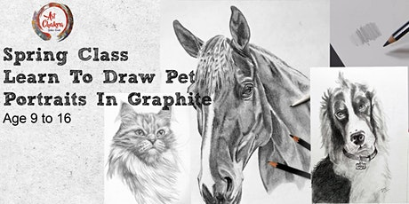 Learn To Draw Pet Portrait In Graphite (Age 9to12) tickets