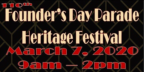 110th Founder's Day Parade & Heritage Festival tickets