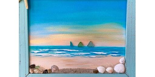 SUN, SAND AND SEA-Mixed Media 3D Painting!  (03-06-2020 starts at 6:30 PM)