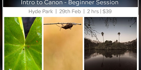Focus on Canon - Beginners Photography Session tickets
