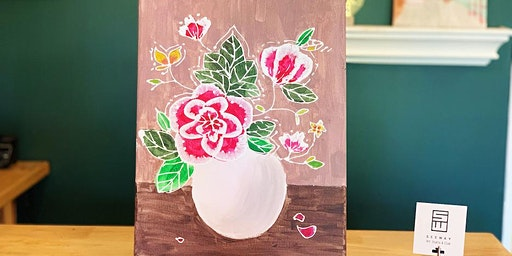 THINGS TO DO -PAINT & SIP: 3D PAINTING-FLOWERS