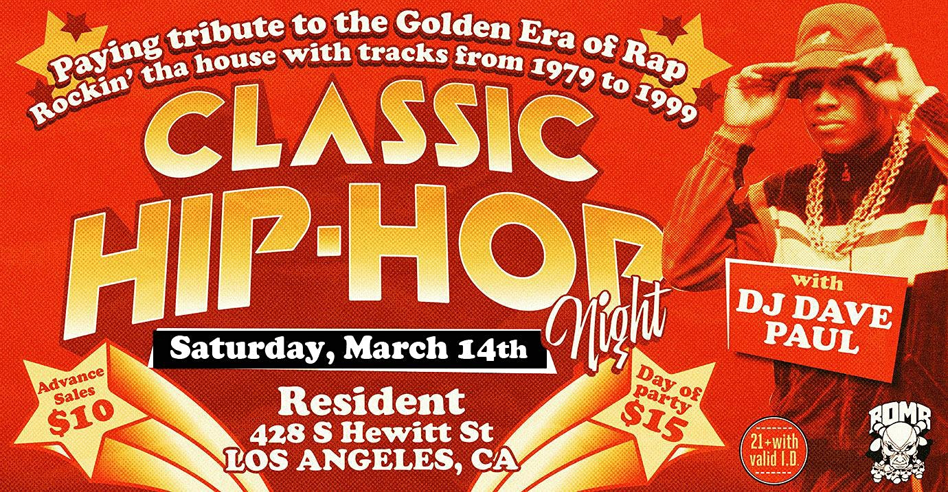 Postponed // Classic Hip-Hop Night
