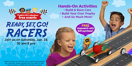 Lakeshore's Ready, Set, Go! Racers - Free In Store Event (East Brunswick) tickets