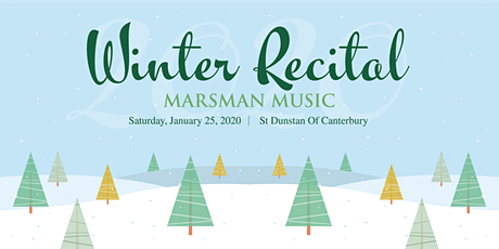 Marsman Music 2020 Winter Recital tickets