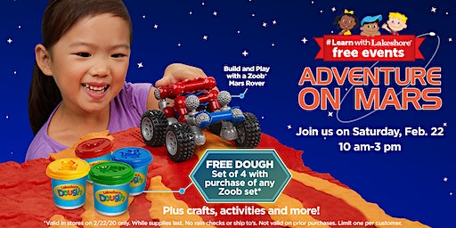 Lakeshore's Adventure on Mars - Free In Store Event (Murrieta)