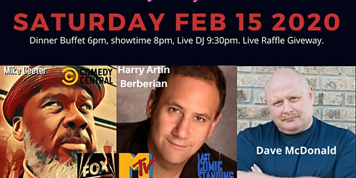 Valentine Comedy Dinner Show at Rips
