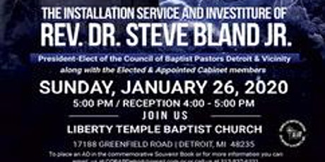 Dr. Steve Bland, Jr. Installation & Investiture Service & Cabinet Members tickets