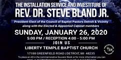 Dr. Steve Bland, Jr. Installation & Investiture Service & Cabinet Members