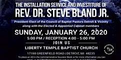 Dr. Steve Bland, Jr. Installation & Investiture Service & Cabinet Members