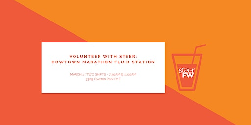 Volunteer with Steer: Cowtown Marathon Fluid Station