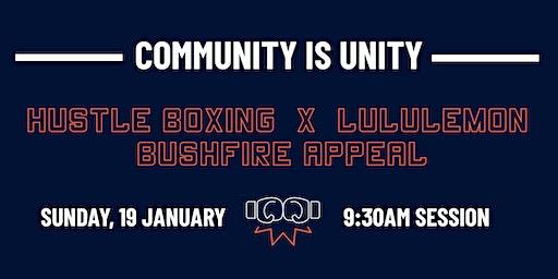 Hustle Boxing x Lululemon - Bushfire Appeal