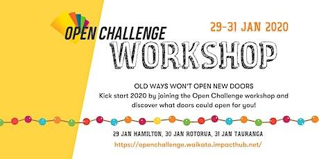 Open Challenge Workshop Rotorua tickets