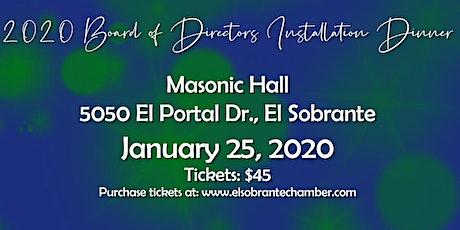 2020 Board of Directors Installation Dinner tickets