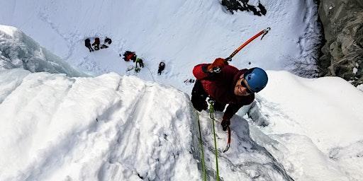 Escalade de glace - Lac sylvère - intermediaire