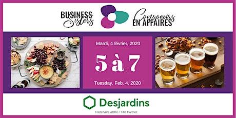 Business Sisters Networking / Consoeurs en Affaires 5 à 7 tickets