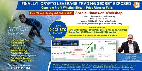 CRYPTO LEVERAGE TRADING - FIRST IN MALAYSIA!  tickets