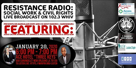 RESISTANCE RADIO Presents- MOVEMENT MONDAYS -SOCIAL WORK AND CIVIL RIGHTS tickets