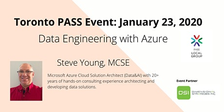 Toronto PASS January 2020: Data Engineering with Azure tickets
