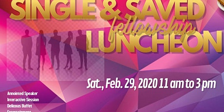 NJCC Single & Saved Luncheon tickets