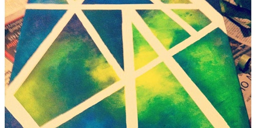 Abstract Painting - Paint, Tape & Create - Freestyle Painting