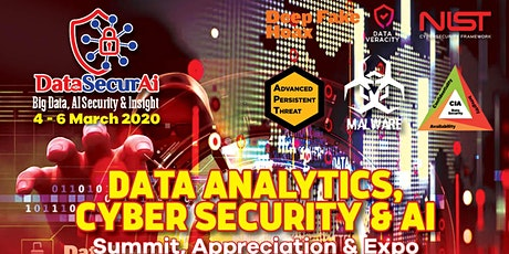 DataSecurAi 2020: Big Data, Fintech, Cloud, AI & Cyber Security  Summit tickets