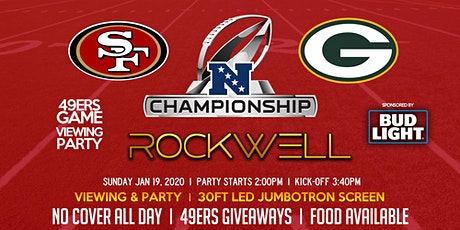 NFC Championship Game Viewing Party 49ers vs. Packers @RockwellSF 1/19/2020 tickets