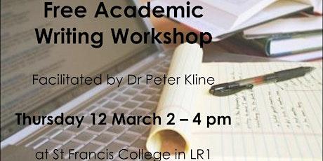 Free Academic Writing Workshop tickets