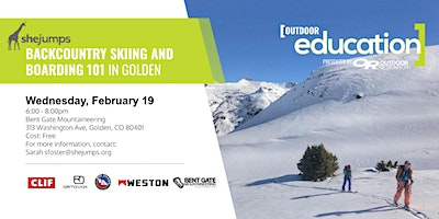 CO SheJumps Backcountry Skiing and Boarding 101 in Golden