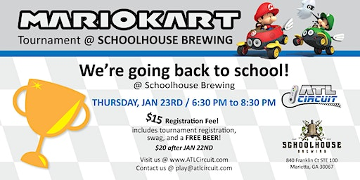Schoolhouse Brewing Mario Kart League Spring 2020