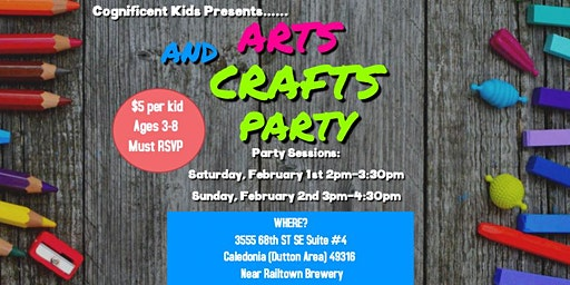 Arts and Crafts Party! Ages 3-8
