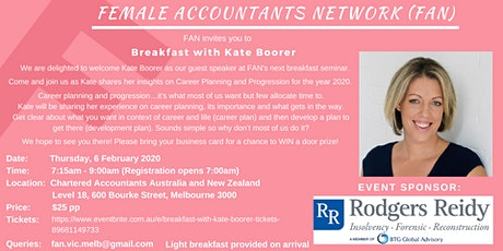 Breakfast with Kate Boorer tickets