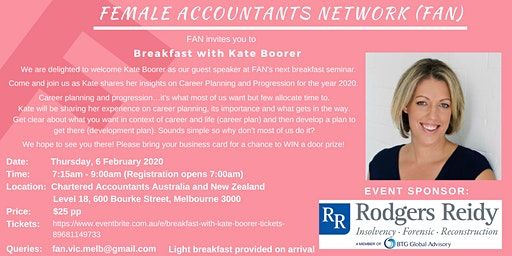 Breakfast with Kate Boorer