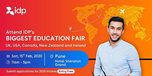 Attend IDP's Education Fair for UK, USA, Canada, NZ & Ireland in Pune