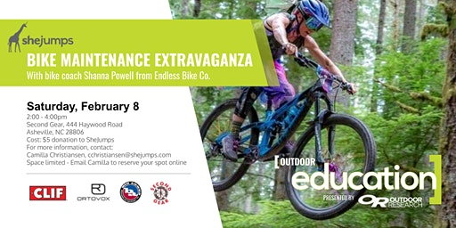 NC SheJumps Bike Maintenance Extravaganza