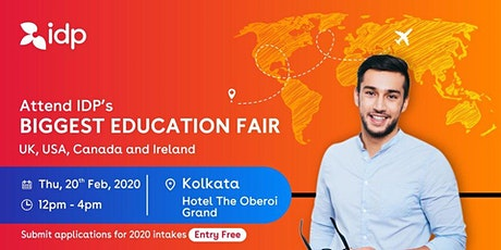 Attend IDP's Education Fair for UK, USA, Canada, NZ & Ireland in Kolkata tickets