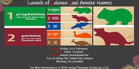 palawa kani naming launch - The Annexe (UTAS Accommodation) tickets