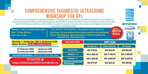 COMPREHENSIVE DIAGNOSTIC ULTRASOUND WORKSHOP FOR GPs - Module 1: Abdomen HBS & Abdomen KUB