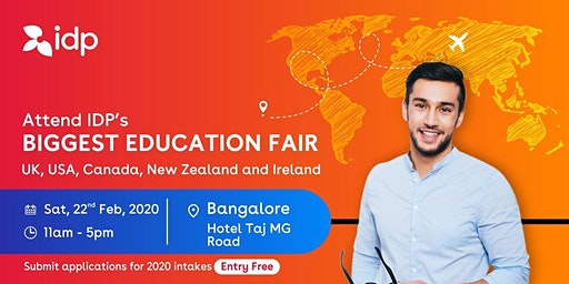 Attend IDP's Education Fair for UK, USA, Canada, NZ & Ireland in Bangalore