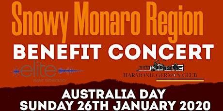 Snowy Monaro Region Benefit Concert tickets