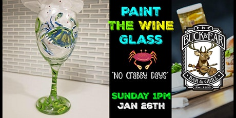 "Paint the Wine Glass ""No Crabby Days"" in Richmond Sunday Afternoon tickets"