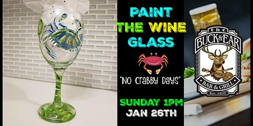 "Paint the Wine Glass ""No Crabby Days"" in Richmond Sunday Afternoon"