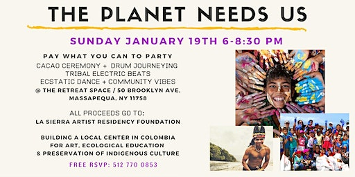 Tribal beats, cacao, drum journeying, dance party, by donation for charity!