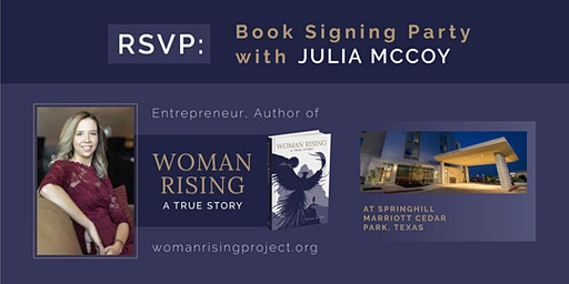 In-Person Woman Rising Book Launch Party with Julia McCoy
