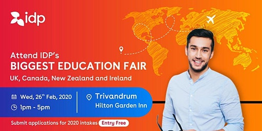 Attend IDP's Education Fair for UK, USA, Canada, NZ & Ireland in Trivandram