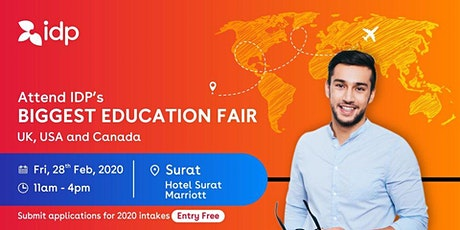 Attend IDP's Education Fair for UK, USA, Canada, NZ & Ireland in Surat tickets