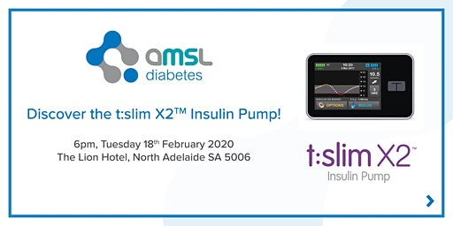 Discover the t:slim X2 Insulin Pump - North Adelaide (Feb 2020)
